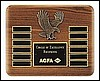 "Eagle Perpetual Plaque with 12 Plates (10 1/2"" x 13"")"