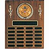 "Perpetual Plaque with Medallion (12""x15"") 48 Plates"