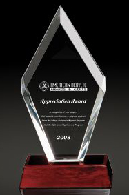 "Clear Arrowhead Award (14""x6""x2 1/2"")"
