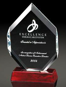 "Hexagonal Gem Award (12""x6""x2 1/2"")"