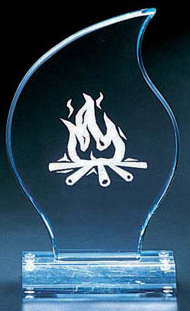"Flame Shape Award (9 1/4""x5 1/2""x2"")"