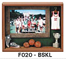 "Basketball Picture Frame (9""x10 3/4""x1 1/2"")"