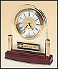 "Diamond Desk Clock (6 1/4""x6"")"