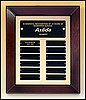 "Perpetual Plaque with 12 Black Plates (12""x15"")"