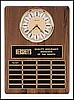 "Perpetual Plaque with 24 Plates and Clock (15 1/4""x21"")"